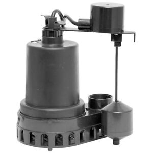 Superior Pump 92572 Thermoplastic Sump Pump With Vertical Float Switch 1 2 Hp