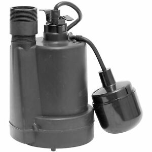 Superior Pump 92330 Thermoplastic Sump Pump With Tethered Float Switch 1 3 Hp
