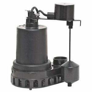 Superior Pump 92372 Thermoplastic Sump Pump With Vertical Float Switch 1 3 Hp