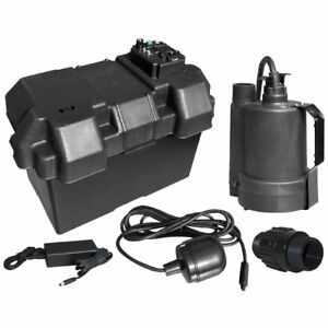 Superior Pump 92900 Thermoplastic Battery Back Up Sump Pump 12 Volts