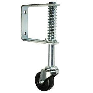 2 Inch Spring Gate Caster Ladder Caster Non Marking Wheel 80 Lbs Cap