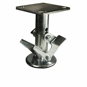 6 Inch Double Pedal Floor Truck Lock 4 X 4 5 Top Plate Service Caster Brand