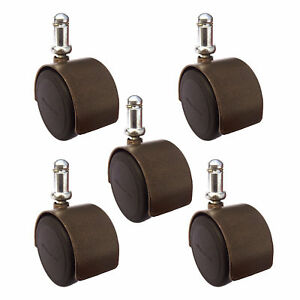 2 Office Chair Casters Windsor Antique Brass Finish Hardwood Safe Set Or 5