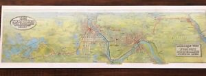1907 Panoramic Twin Cities Rapid Transit Minneapolis St Paul Electric Line Map
