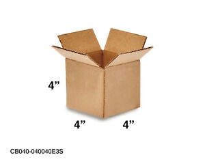 Mailing Moving Packing Shipping Cardboard Corrugated 4x4x4 Boxes 25 50 100 Pack