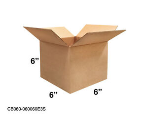 Mailing Moving Packing Shipping Cardboard Corrugated 6x6x6 Boxes 25 50 100 Pack