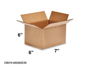 Mailing Moving Packing Shipping Cardboard Corrugated 7x6x6 Boxes 25 50 100 Pack