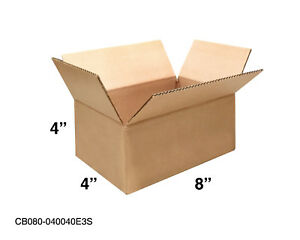 Mailing Moving Packing Shipping Cardboard Corrugated 8x4x4 Boxes 25 50 100 Pack