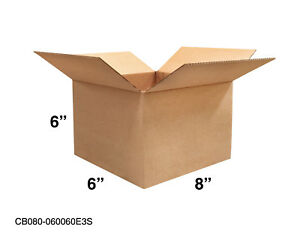 Mailing Moving Packing Shipping Cardboard Corrugated 8x6x6 Boxes 25 50 100 Pack