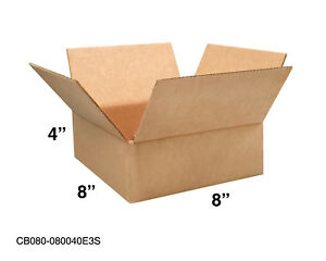 Mailing Moving Packing Shipping Cardboard Corrugated 8x8x4 Boxes 25 50 100 Pack