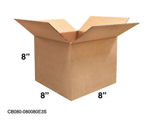 Mailing Moving Packing Shipping Cardboard Corrugated 8x8x8 Boxes 25 50 100 Pack