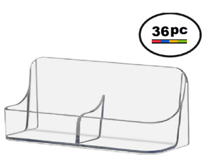36 Acrylic Plastic Vertical Business Card Holder Displays Clear Side By Side