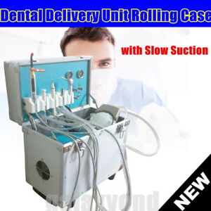 Dental Portable Delivery Unit Rolling Case weak Suction air Compressor scale Usa