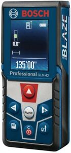 Bosch Laser Distance Measurer Blaze 135 Ft Backlit Color Display Screen Rotates