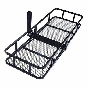 60 Folding Luggage Cargo Basket Carrier Truck Suv Trailer Receiver Hitch Rack