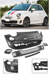 Abarth Turbo Style Front Bumper Lower Grille Insert Body Kit For 12 Up Fiat 500