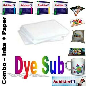 Sublimation Combo Sublijet r Ink Set cmyk For Ricoh Sg 3110d 100 Shts Paper