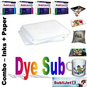 Sublimation Combo Sublijet r Ink Set cmyk For Ricoh Sg 3110d 100 Sheets Paper
