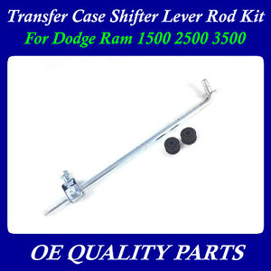 Transfer Case Shifter Linkage Rod Shifter Lever With Bushing For Ram 4x4 98 02
