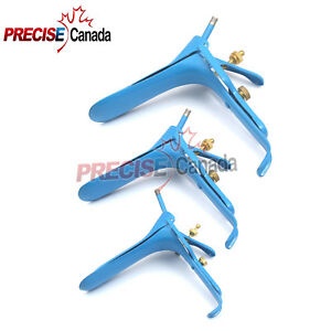 Blue Coated Graves Vaginal Speculum Large medium small Size Gynecology Surgical