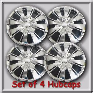 Toyota Yaris 15 Hubcaps Replica 2013 2014 Toyota Yaris Chrome Wheel Covers