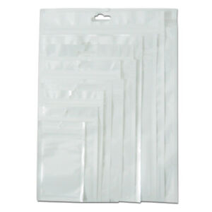 Zip Lock Self Seal Clear Hang Hole Plastic Bag Jewelry Accessories Pack Pouches