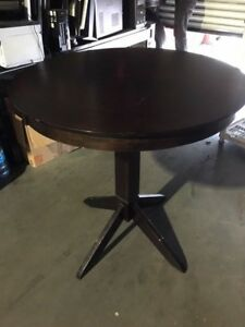 Round Wood Tables 6 Counter height restaurant