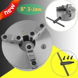 8 8 Inch 3 Jaw Self Centering Lathe Chuck Front Mount In Prime Quality New