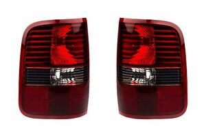 04 08 Ford F 150 Harley Davidson Blackout Smoked Tail Light Lamps Right Left Oem