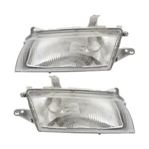 Pair New Top Quality Left Right Headlight Assembly For Mazda 323 Protege