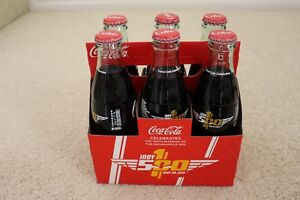 Coca Cola Indy 500 Bottles 100th Running May 29, 2016  6 Pack Bottles 8oz  NEW