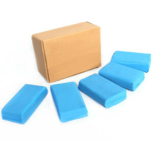 5pcs 180g Magic Blue Clay Bar For Auto Detailing Cleaner Car Washer