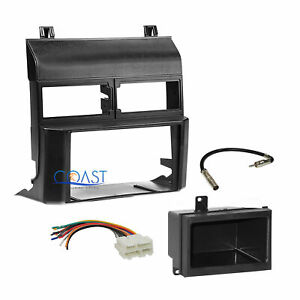 Car Radio Stereo 2 Din Dash Kit Pocket Wire Harness For 1988 94 Chevy Gmc Truck