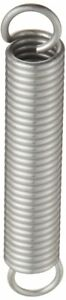 Extension Spring 302 Stainless Steel Inch 0 75 Od 0 105 Wire Size 2 75