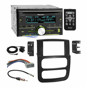 Pioneer 2017 Usb Bluetooth Stereo Dash Kit Harness For 2002 05 Dodge Ram Truck