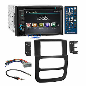 Planet Audio Dvd Usb Bluetooth Stereo Dash Kit Harness For 2002 05 Dodge Ram