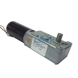 12v 3rpm Low Speed High Torque Turbo Gear Reducer Motor Single Shaft