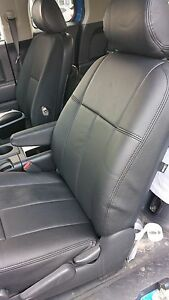 2011 2014 Tahoe Suburban Black Clazzio Synthetic Leather Seat Covers Kit