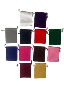 10 Pack Velvet Bags 4 X 3 5 Plush Party Favor Wedding Gift Jewelry Pouch