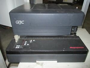 Gbc Magnapunch Heavy Duty Binding Punch Ct For Parts Repairs