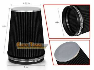 6 Cold Air Intake High Flow Truck Filter Universal Black For Oldsmobile