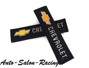 Jdm Pair Chevrolet Embroidered Seat Belt Shoulder Cover Pads For Cruze Silverado