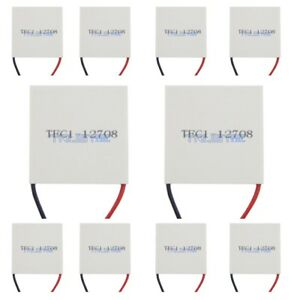 10 Pcs Tec1 12708 Heatsink Thermoelectric Cooler Cooling Peltier