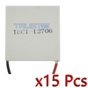 15x Tec1 12706 Heatsink Thermoelectric Cooler Cooling Peltier Plate Module 12v