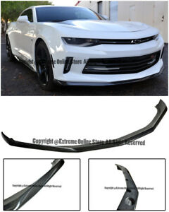 Eos 1le Track Package Carbon Fiber Front Bumper Lip Spoiler For 16 Up Camaro Rs