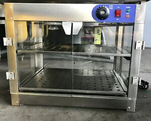 24 Commercial Food Warmer And Display Case With 2 Shelves