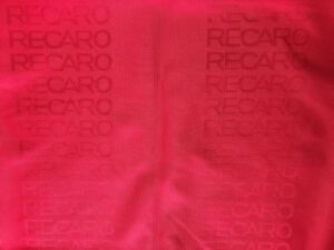 79x63in Jdm Recaro Seat Red Fabric Interior Fabric Front Rear Seat Cover