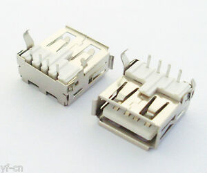 500pcs A Type 90d Right Angle Usb 4pin Female Jack Socket Pcb Mount Connector