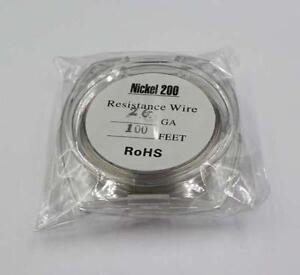 Nickel 200 Resistance 26 Gauge Awg 0 32mm Resistance 0 23ohm cm 100 Ft Wire