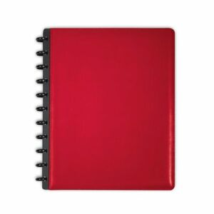 Levenger Circa Leather Foldover Notebook Letter Red Al8390 Rd Ltr Nm